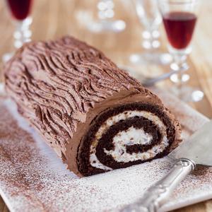 Chocolate Hazelnut Roulade