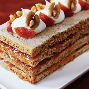 Four Layer Walnut Apricot Torte