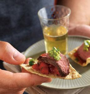 Grilled Salsa Steak Appetizer