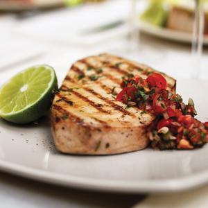 Swordfish with Grilled Tomato Salsa