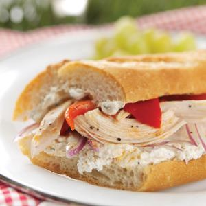 Roasted Chicken Baguette Sandwiches