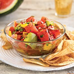 Grilled Watermelon Salsa