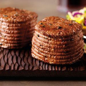 Pepper-Ancho Rubbed Ribeye Filets with Mango Slaw