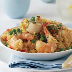 Shrimp and Scallop Paella