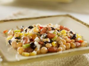 Three-Bean Salad with Tangy Coriander-Chili Dressing