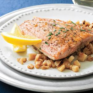 Salmon with Parsnips and Apples