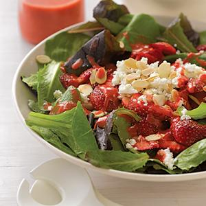 Spring Greens with Strawberry Vinaigrette