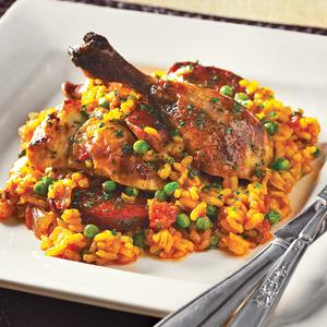 Roast Chicken and Chorizo Paella