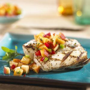 Grilled Fish with Mango Tango Salsa