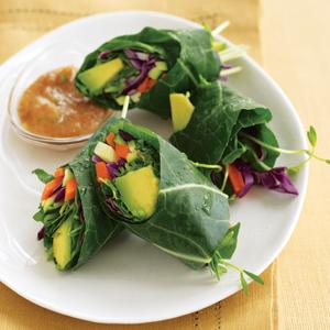 Veggie Wraps with Sweet & Sour Dipping Sauce