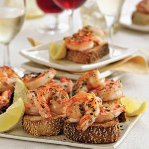 Lemon-Garlic Shrimp Toast