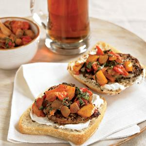 Pork and Peperonata Tartines