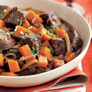 Squash and Beef Stew with Cinnamon-Herb Sauce