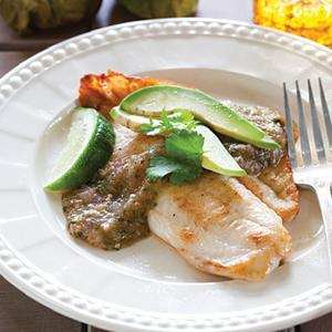 Tilapia with Salsa Verde