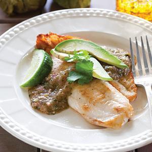 Tilapia with Salsa Verde