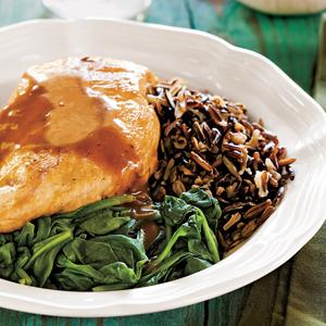 Chicken and Spinach with Balsamic-Citrus Sauce
