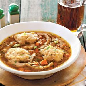 Beer-Braised Chicken and Dumplings