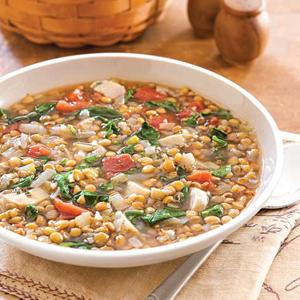 Marian's Lentil and Spinach Soup