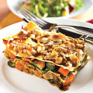 Spinach and Roasted Butternut Squash Lasagna