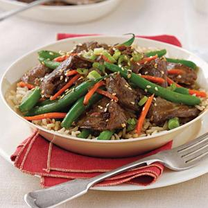 Sesame Beef with Green Beans