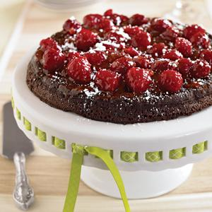 Flourless Black Pepper Chocolate Cake w/ Topping