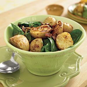 Hot Potatoes & Spinach