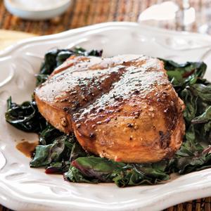 Maple-Balsamic Glazed Swordfish Steaks