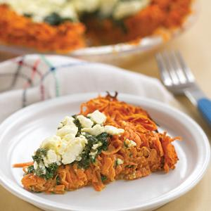 Spinach Sweet Potato Tart