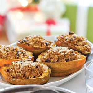 Acorn Squash with Double Mushroom Stuffing