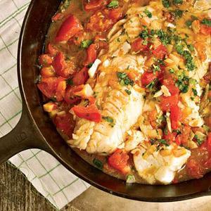 One-Skillet Tomato Cilantro Fish