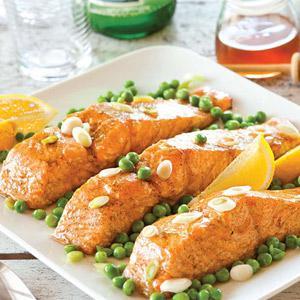 Grilled Salmon With Honey-Cardamom Glaze