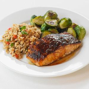 Ancho Chili Rubbed Salmon With Maple Glaze