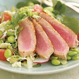 Tuna, Edamame, And Watercress Salad