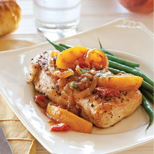 Peachy Pork Chops