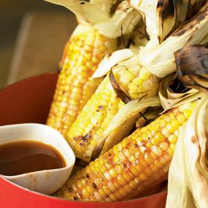 Charred Corn on the Cob with Grilled Tomato Oil