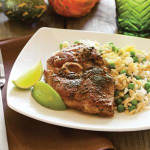 Herb-Crusted Lamb Chops with Orzo