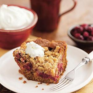 Cranberry Gingerbread Buckle