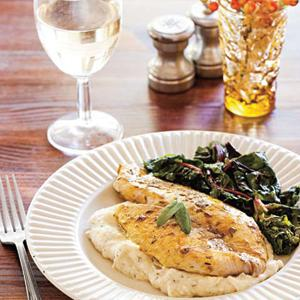 Curried Tilapia with Parsnip Puree