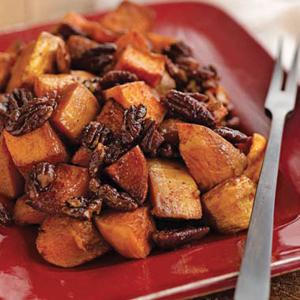 Spicy Roasted Pumpkin with Pecans