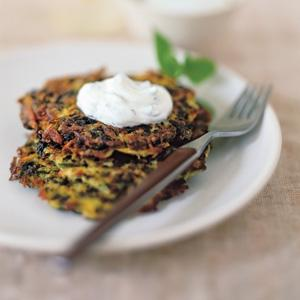 Herbed Spinach-Potato Latkes