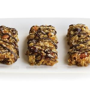 Dried  Fruit and Nut Bars with Oats and Chocolate