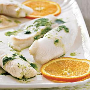 Tilapia with Citrus-Cilantro Vinaigrette
