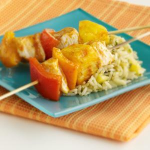 Chicken, Pepper & Pineapple Kabobs