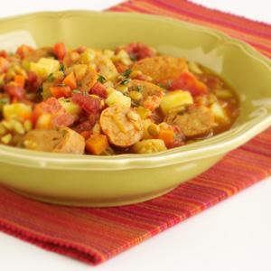 Simple Tomato-Lentil-Sausage Stew