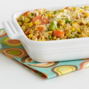 Corny, Easy-Peasy Cheesy Rice