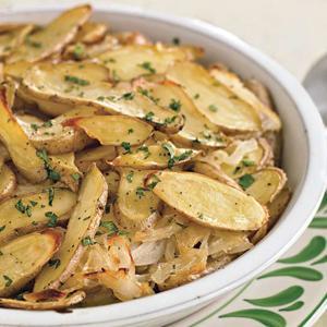 Fingerling Potato and Vidalia Onion Lyonnaise
