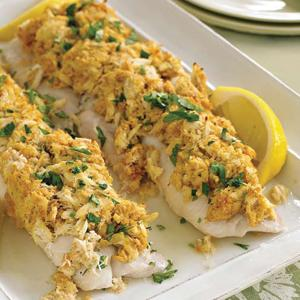 Baked Crab-Topped Haddock