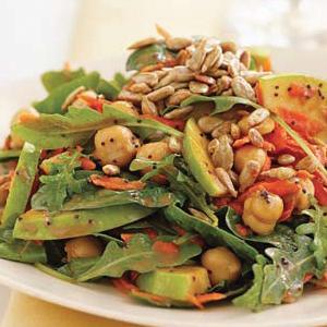 Sunflower Salad with Poppy Seed Vinaigrette