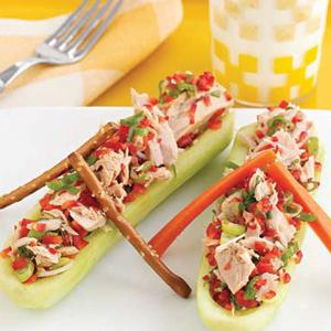 Red Pepper Tuna Salad Boat
