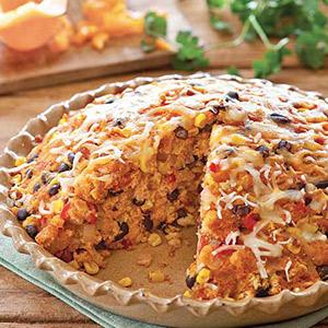 Hearty Corn and Black Bean Pie